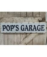Pop`s Garage Metal Sign Vintage Style Embossed Sign - $29.69