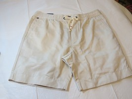 "Tommy Hilfiger Mens Shorts Casual 78C5926 987 off white L large 7"" Inseam - $40.83"