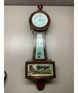 "Antique Art Deco Bayard Banjo Clock Made in France H&H Distributor 20"" long - $714.78"
