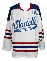 Custom Name # Citadelle Quebec Retro Hockey Jersey Sewn New White Any Size image 4