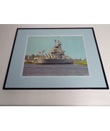 VINTAGE USS North Carolina Wilmington NC Framed 16x20 Poster Display - $79.19