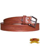 32 in Leather Gun Holster Belt Handmade Buffalo Hide Stitched Hilason U-... - $24.99