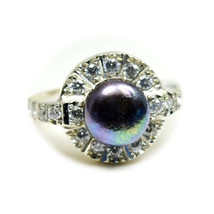 Natural Pearl Gorgeous Round Cut 925 Silver Ring Gift Size 4,5,6,7,8,9,1... - $30.49