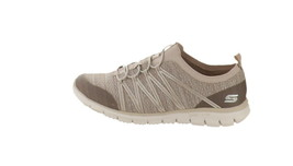 Skechers Bungee Slip-On Sneakers Glider Tuneful Taupe 10W NEW A346595 - $55.42