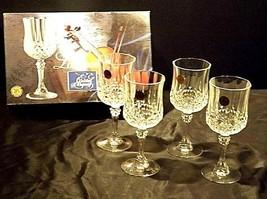 Longchamp Crystal Arques Glasses France 24 PBO Set of 3 LD19-11915 image 2
