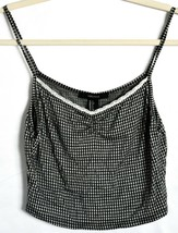Forever 21 Check Gingham Plaid Cropped V-Neck Tank Top Size S image 1