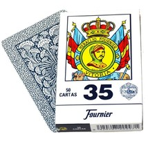 Deck 50 Fournier Spanish Playing Cards Catalan #35 Tuck Case Blue Naipe ... - $19.74