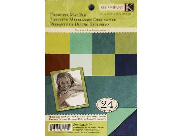 K&Company Ocean Solid Mat Pad Cardstock #30-138391
