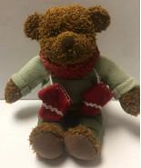 Hallmark Plush Stuffed Animal Christmas Teddy Bear Holiday Scarf Mittens... - $11.59