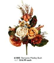 Home Interiors Floral Romantic Medley Bush Ea. Last One! New Homco Hig 61005 - $16.82