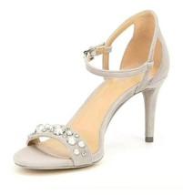 Michael Kors Mid Sandal Suede Pearls Toffee Size 9.5 NIB - $56.99