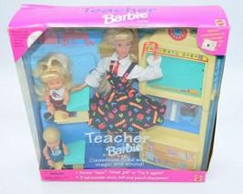 Mattel Barbie 1995 Teacher Classroom 2 Students 1st Edition Recalled No ... - $49.49