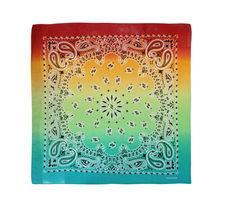 "12 Pack Gradient Rainbow Cotton Head Wrap Scarf Bandana Ombre Colors 22"" X 22"" image 10"