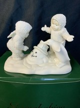 Dept 56 Snowbabies Porcelain Where Did He Go ? Figurine Snowman Angel - $22.00