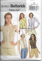 Butterick 4801 Women Misses Tops Blouses Various Styles  Sizes 8 10 12 14  - $10.00