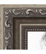 ArtToFrames 14x18 inch Antique Silver with Beads Wood Picture Frame, WOM... - $31.96