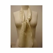 Vintage 1960s Rectangle Scarf Charles Jourdan Signature C Cream Scarf - $19.79