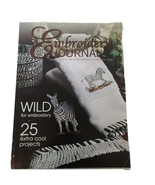 EMBROIDERY JOURNAL MAGAZINE JULY 2003 25 Projects Wild Zebra for embroidery - $6.49
