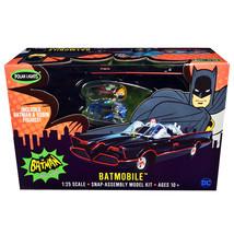 Skill 2 Snap Model Kit 1966 Batmobile with Batman and Robin Figurines Ba... - $44.23