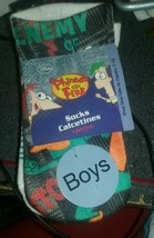 Disneys Phineas And Ferb Perry The Platpus Boys Socks Size 7-10 4 Pack - $6.92
