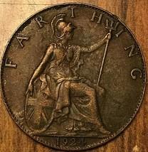 1924 UK GB GREAT BRITAIN ONE FARTHING - $3.53