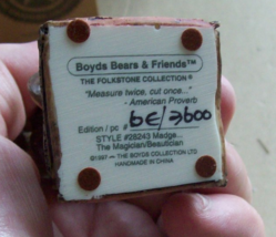Boyd's Folkstone Collection Madge The Magician Beautician Retired 1996 image 3