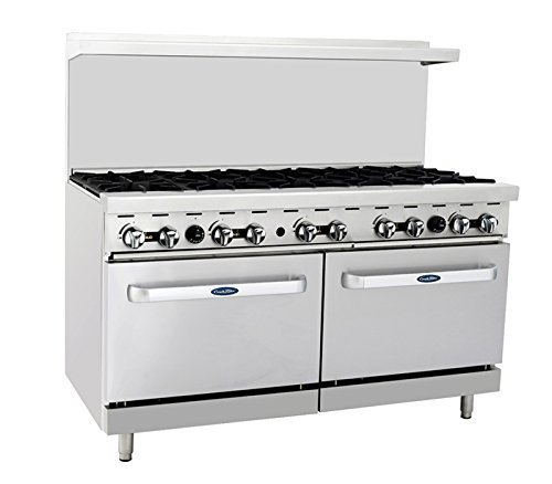 Atosa ATO-10B 60'' Gas Range. (10) Open Burners with Two 26'' 1/2 Wide Ovens - $2,611.00