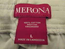 Ladies khaki drawstring shorts w/adjustable legs Size L by Merona  MKS017 - $10.65