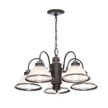 Hampton Bay Halophane 5-Light Oil Rubbed Bronze Chandelier - $32.62