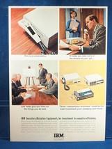 Vintage Magazine Ad Print Design Advertising IBM Digitation Equipment - $12.86