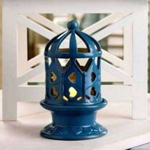 10015448 Gallery of Light Blue Ceramic LED Candle Lantern - $13.78