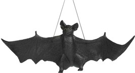 Bat Prop Black Hanging 22 Inches Realistic Haunted House Halloween FM64411 - $34.99