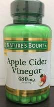 Apple Cider Vinegar Pills 480 Mg Natures Bounty 200 tablets Exp:06/2021 - $15.99