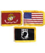 "Car Radio Antenna Flags Mini US Flag American Patriotic 4.5"" x 6"" Red Wh... - $6.29"