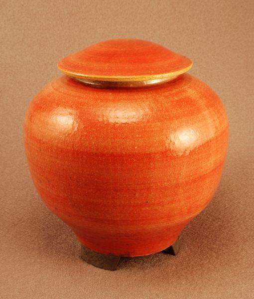 RAKU Unique Ceramic Companion Small/ Keepsake Funeral Cremation Urn #I003
