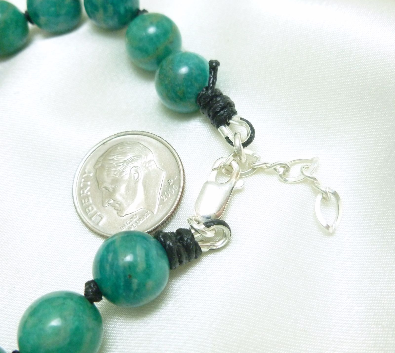 Russian Amazonite Gemstone Round Beaded Necklace