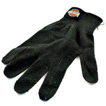 Harley Davidson Motorcycles Women's Black Knit Gloves Orange Bar & Shield image 5