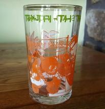Ultra Rare~Warner Bros Juice Glass Tha Ts All Folks Vintage 1974 Bugs Elmer Porky - $9.95