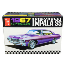 Skill 2 Model Kit 1967 Chevrolet Impala SS 1/25 Scale Model by AMT AMT981M - $45.16