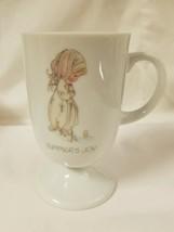 Enesco Precious Moments Footed Coffee Cup Mug Summer's Joy - $14.99
