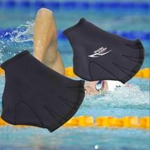 1 Pair Unisex Swimming Webbed Gloves Adult Paddle Training Frog Finger D... - $8.45