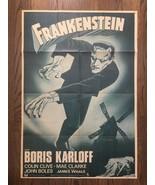FRANKENSTEIN (1931) Vintage Original 1-Sheet Poster Boris Karloff on Ram... - $495.00
