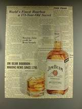 1968 Jim Beam Bourbon Whiskey Ad - 173 Year Old Secret - $14.99