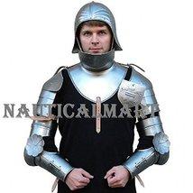 NauticalMart Plate Armour Pauldrons, Basinet, Gorget W/Bevor, Rerebraces - $399.01