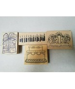 GREAT SELECTION OF WOOD & RUBBER LARGE CELEBRATION STAMPS  DON'T MISS! - $2.23+