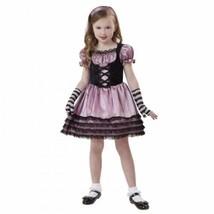 Girls Wicked Bo Peep Pink Black Dress, Gloves, Headpiece Halloween Costume- 4/6 - $19.80