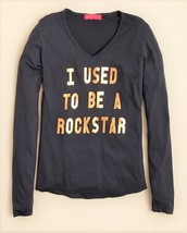 me.n.u. Girls' I Used to Be a Rockstar Tee, Dark Gray, Size S, MSRP $48 - $20.56