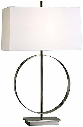 Uttermost 27153-1 Addison Polished Nickel Lamp, Silver