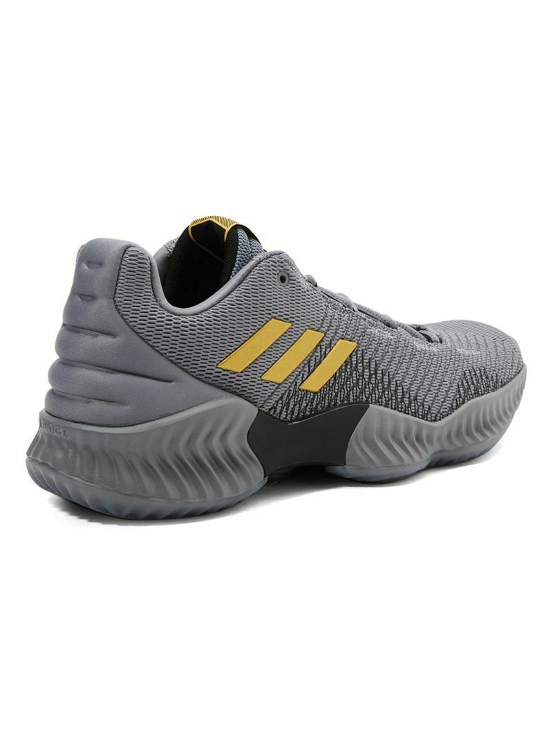 Adidas Pro Bounce 2018 Low Grey Gold AH2683 Mens Basketball Shoes Size 8