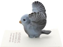 Hagen-Renaker Miniature Ceramic Bird Figurine Blue Tweetie Pa, Ma & Baby Set image 12